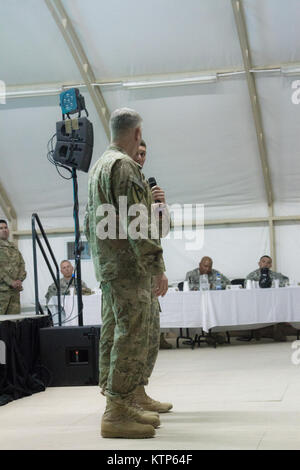 Command Sgt. Major Raymond F. Chandler III, the Sergeant Major of the Army, came to visit soldiers stationed at - Stock Photo