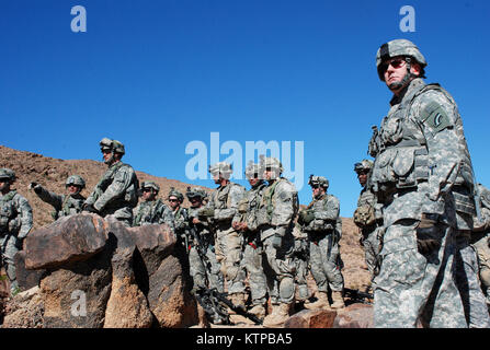 NATIONAL TRAINING CENTER, FORT IRWIN, Calif. – New York Army National Guard Deputy Commander Brig. General Brian - Stock Photo