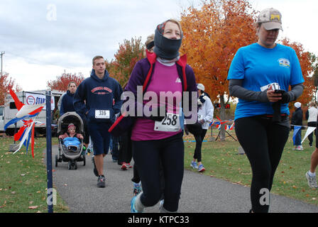 New York National Guard servicemembers, military family members and military supporters alike participated in the - Stock Photo