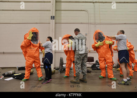 PERRY, GA - Emergency Managers from more than twenty Air National Guard units kicked off the first day of Global - Stock Photo