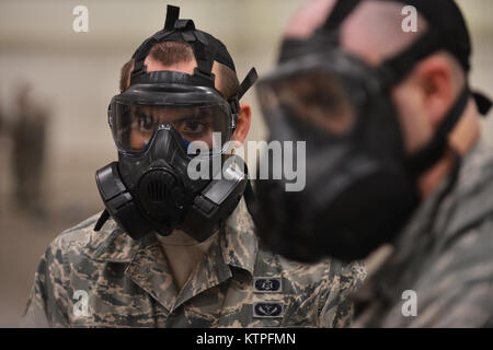 PERRY, GA - Airman First Class Jonathan Allen stands by during a training event at Global Dragon deployment for - Stock Photo
