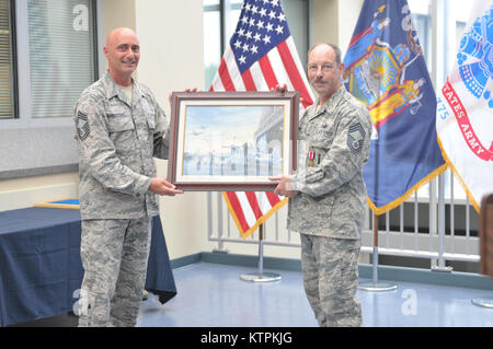 CMSgt Edward Warner Human Resources Specialist for the New York Department of Military and Naval Affairs in Latham - Stock Photo