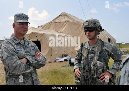 New York Air National Guard Maj. Gen. Anthony German, the New York National Guard Adjutant General, visits Soldiers - Stock Photo