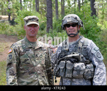 Massachusetts Army National Guard Col. Thomas Stewart, the Massachusetts National Guard Deputy Chief of Staff (left) - Stock Photo