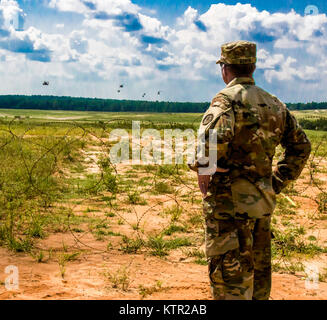 Maryland Army National Guard Brig. Gen. Timothy Gowen, the Maryland Assistant Adjutant General, observes Maryland - Stock Photo