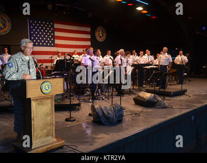 The New York Army National Guard's 42nd Infantry Division Band played a free concert at Eisenhower Park, Nassau - Stock Photo