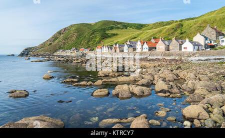 Panoramic sight of Crovie, small village in Aberdeenshire, Scotland. - Stock Photo