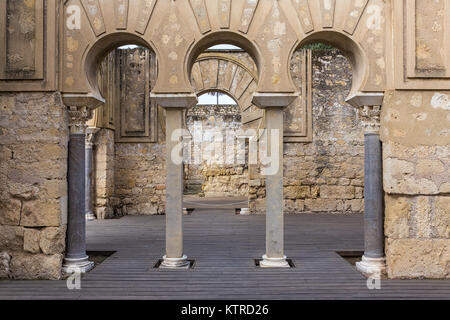 Cordoba, Spain - October 28, 2015: Medina Azahara. Important Muslim ruins of the Middle Ages; located on the outskirts - Stock Photo