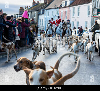 The Middleton Hunt, Boxing Day Meet, Malton, North Yorkshire, 2017 - Stock Photo