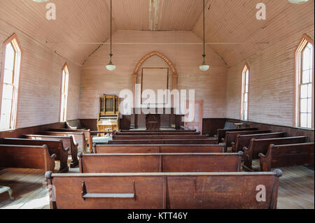 Interior of an Abandoned Church - Stock Photo