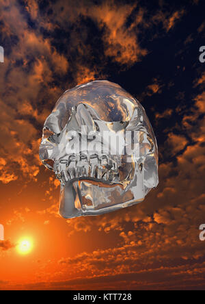 Mysteries Of The Crystal Skull. - Stock Photo