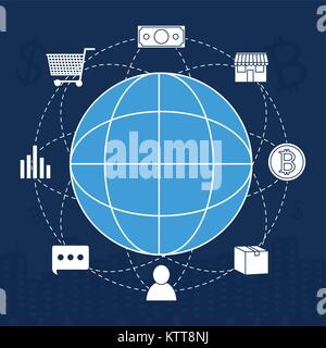 Fintech industry design - Stock Photo