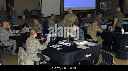 Federal Emergency Management Agency (FEMA), U.S. Northern Command, and other agency personnel conduct command and - Stock Photo