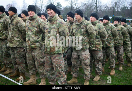 Yavoriv, Ukraine – U.S. Army Soldiers from the 27th Infantry Brigade Combat Team assigned to the Joint Multinational - Stock Photo