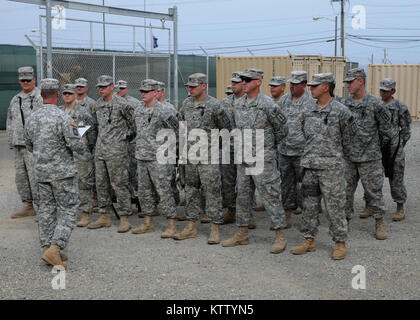 12601-A-YK528-003GUANTANAMO Bay, Cuba (June 1, 201) -- New York Army National Guard Citizen-Soldiers of the 107th - Stock Photo