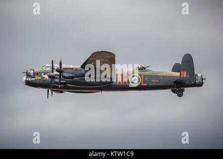 Avro Lancaster PA474 of Battle of Britain Memorial Flight at Royal International Air Tattoo 2017 - Stock Photo