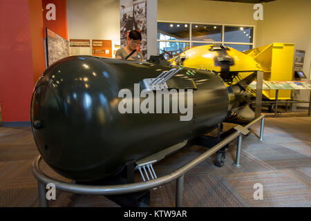 Fat Man and Little Boy atomic bombs - Stock Photo