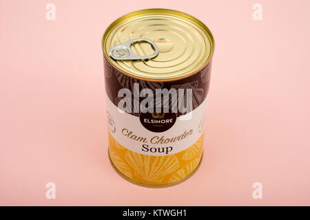 Elsinore Clam Chowder soup - Stock Photo