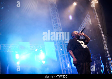 The American rapper Killer Mike is a big man and a well-respected poet in American hip hop. Denmark 2013. - Stock Photo