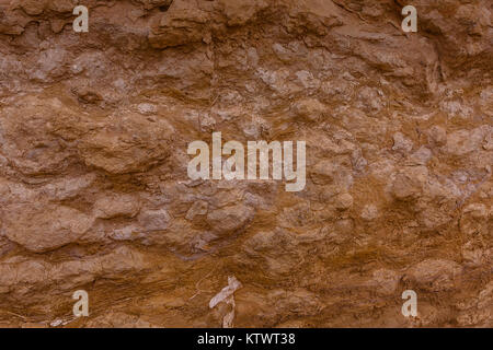 A close-up of the typical limestone denudation in the desert near Riyadh, Saudi Arabia - Stock Photo