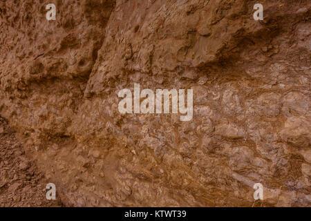 Typical limestone denudation in the desert near Riyadh, Saudi Arabia - Stock Photo