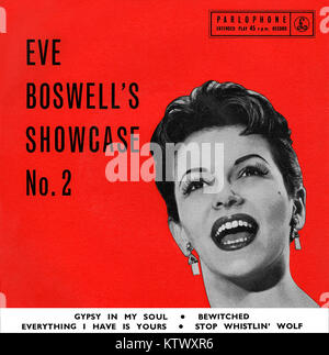 Front cover of Ever Boswell's Showcase No. 2 E.P. Vinyl 7' record released in the UK in November 1958 on the Parlophone - Stock Photo