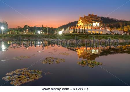 Chiang Mai, Thailand at Royal Flora Ratchaphruek Park. - Stock Photo
