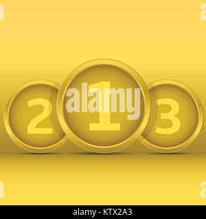 Golden award labels - Stock Photo