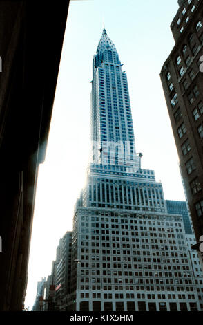 Chrysler building looking north rare view - Stock Photo