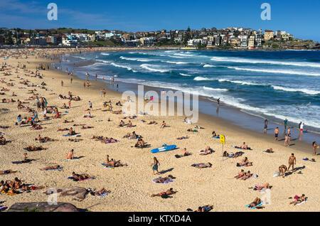 BONDI BEACH BATHS, AUSTRALIA - Mar 16TH: People Relaxing