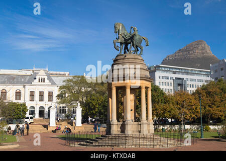 Delville Wood Memorial and Iziko South African Museum, Company's Garden, Cape Town, Western Cape, South Africa, - Stock Photo