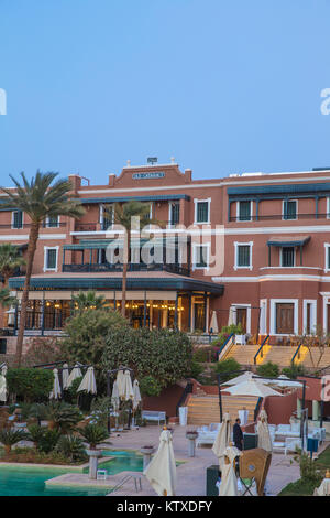 Swimming pool at Old Cataract Hotel, Aswan, Upper Egypt, Egypt, North Africa, Africa - Stock Photo