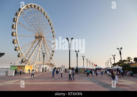 Guayaquil, Ecuador - La Perla, the Guayaquil ferris wheel on the waterfront or Malecon, Guayaquil, Ecuador South - Stock Photo