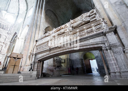 The pantheon of the kings of the Crown of Aragon of the Royal Abbey of Santa Maria de Poblet, a Cistercian monastery - Stock Photo