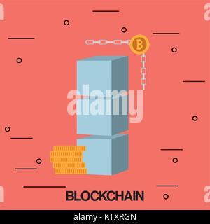 Blockchain concept design - Stock Photo