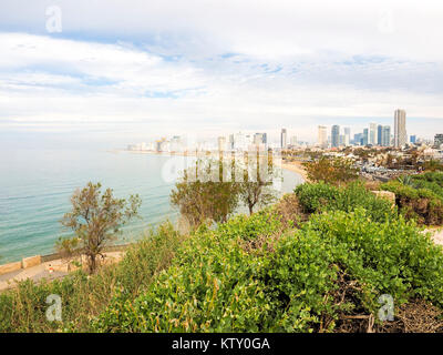 View of the Tel Aviv Promenade. Tel Aviv, Israel - Stock Photo
