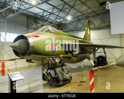 An English Electric Lightning F2A on display at the Fortune Museum of Flight in Scotland - Stock Photo