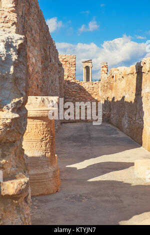 The Sanctuary of Apollo Hyllates in Cyprus, Greece, panoramic image of temple ruins - Stock Photo