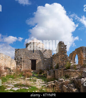 ruins of ancient byzantine church in mesada archaeological