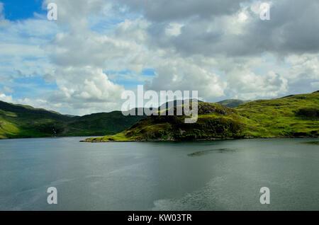 Scotland, highlands, hole Gleann Dubh, Schottland, Highlands, Loch Gleann Dubh - Stock Photo