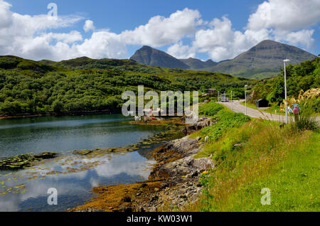 Scotland, highlands, Kylesku, hole Gleann Dubh, Schottland, Highlands, Loch Gleann Dubh - Stock Photo