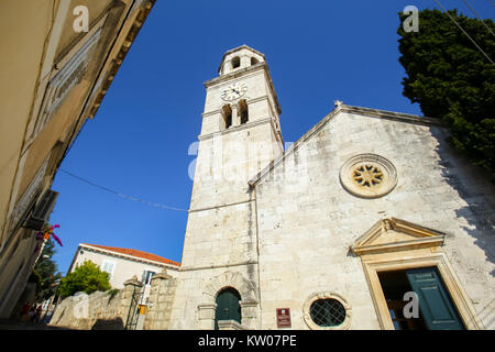 Church of Saint Nicholas in Cavtat, Croatia. - Stock Photo