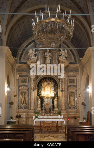 Renaissance Chiesa della Madonna del Soccorso (Church of Our Lady of the Rescue) in Montalcino, Tuscany, Italy. - Stock Photo