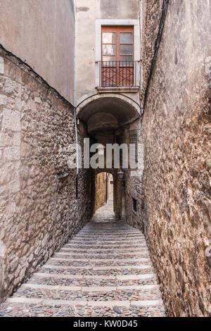Passageway in the Jewish quarter of Girona, Catalonia.