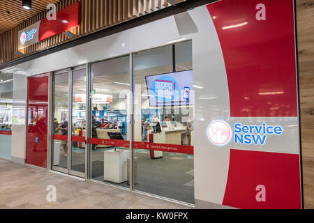 Service NSW is a New South Wales government service centre that allows residents to access a range of government - Stock Photo