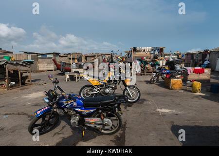 Jamestown Fishing Village, Jamestown, Accra, Ghana - Stock Photo