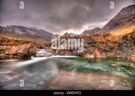 The Fairy Pools on Isle of Skye - Stock Photo