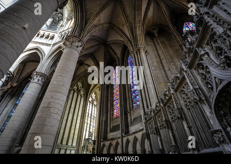 Nave And Vaulted Ceiling · The Interior Of The Gothic Notre Dame De  Lu0027Assomption De Rouen In Rouen