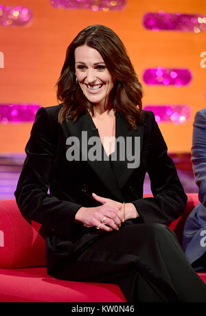 EMBARGOED TO 0001 FRIDAY DECEMBER 29 Suranne Jones appearing on the Graham Norton Show filmed at the London Studios, - Stock Photo