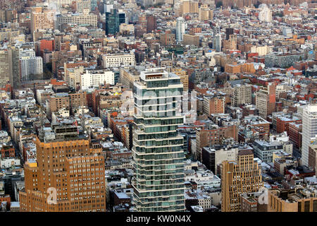 56 Leonard, a new luxury apartment building, seen from One World Observatory, One World Trade Center, Manhattan, - Stock Photo